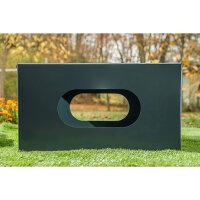 Metall pulverbeschichtet (rostfrei) | 69x69x38cm | Fertig montiert | Mit Seitenlöchern