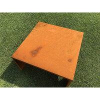 Cortenstahl | 69x69x38cm | Fertig montiert | Mit Seitenlöchern | Rostoptik