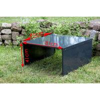 Metall XXL | pulverbeschichtet | 81x81x41 cm | dreiteilig | Schnell montiert