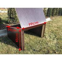 Siebdruck XXL   99x99x45 cm   Fertig montiert   Mit...