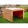 Holz (lackiert) | 69x69x40 cm | Mit Dach (kein Deckel) | fertig montiert